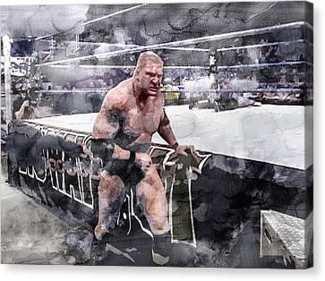 Wwe Wrestling 203 Canvas Print by Jani Heinonen
