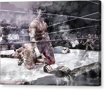 Wwe Wrestling 209 Canvas Print by Jani Heinonen