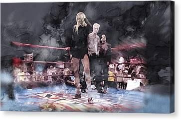 Wwe Wrestling 21 Canvas Print by Jani Heinonen