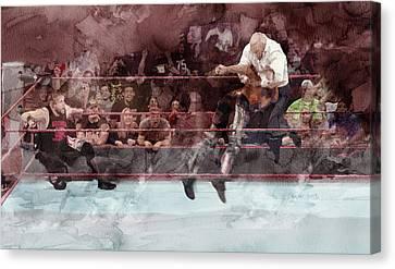 Wwe Wrestling 26 Canvas Print by Jani Heinonen