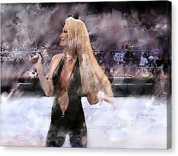 Wwe Wrestling 32 Canvas Print by Jani Heinonen