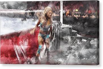 Wwe Wrestling 348 Canvas Print by Jani Heinonen