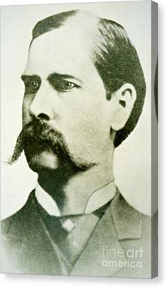 Wyatt Earp Canvas Print by American School