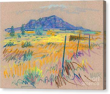 Wyoming Roadside Canvas Print by Donald Maier