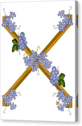 X Is For Ten Canvas Print by Anne Norskog