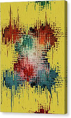 X Marks The Spot Canvas Print by Bonnie Bruno