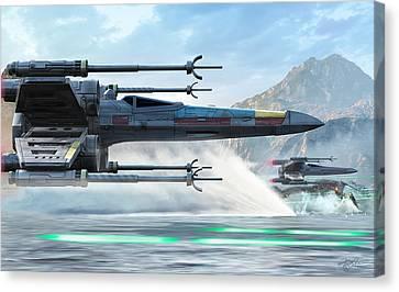 X-wing Full Throttle  Canvas Print by Kurt Miller