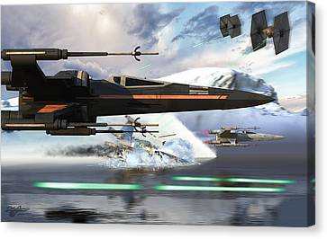 X-wing Full Throttle V2 Canvas Print by Kurt Miller