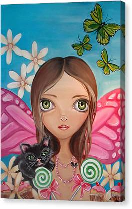 Xenia Fairy Canvas Print by Jaz Higgins