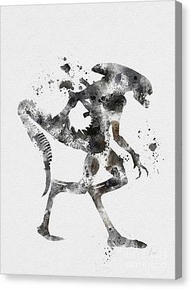 Xenomorph Canvas Print by Rebecca Jenkins