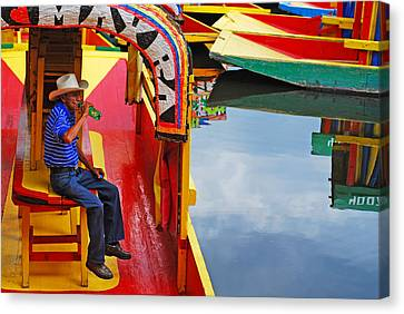 Xochimilco Canvas Print by Skip Hunt