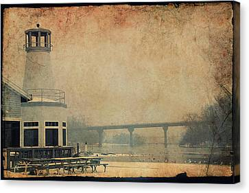 Yacht Club On The Fox Canvas Print by Joel Witmeyer