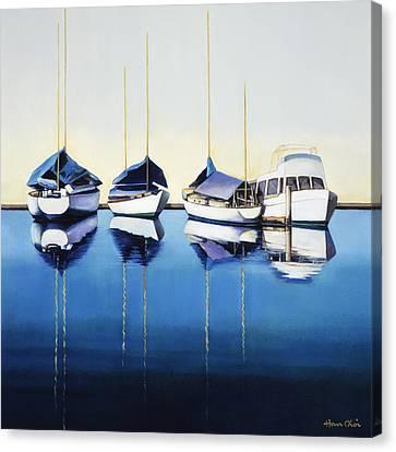 Yacht Harbor Canvas Print by Han Choi - Printscapes