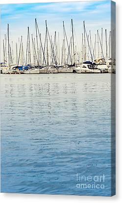 Yachts At Sea Canvas Print by Svetlana Sewell