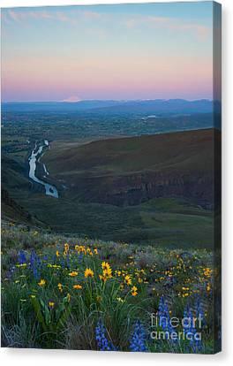 Yakima River Dawn Canvas Print by Mike Dawson