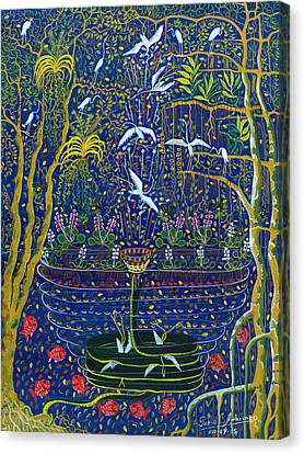 Yana Yacumama  Canvas Print by Pablo Amaringo