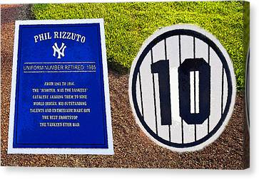 Yankee Legends Number 10 Canvas Print by David Lee Thompson