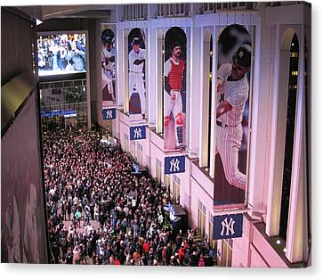 Yankee Stadium Great Hall 2009 World Series Color  Canvas Print by Terry DeLuco