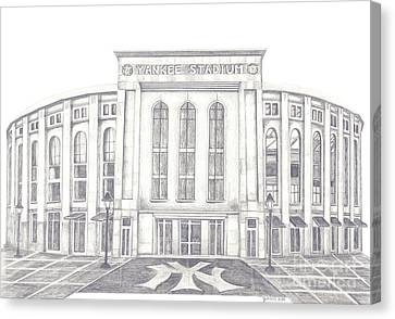 Yankee Stadium Canvas Print by Juliana Dube