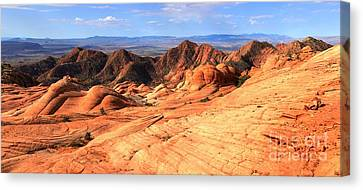 Yant Flat Candy Cliffs Panorama Canvas Print by Adam Jewell