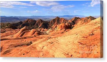 Yant Flat Panorama Canvas Print by Adam Jewell
