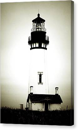 Yaquina Head Light - Haunted Oregon Lighthouse Canvas Print by Christine Till