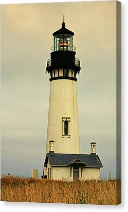 Yaquina Head Lighthouse - Newport Or Canvas Print by Christine Till