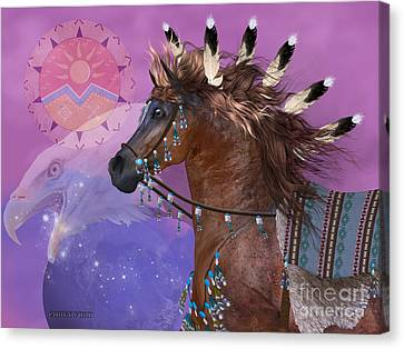 Year Of The Eagle Horse Canvas Print by Corey Ford