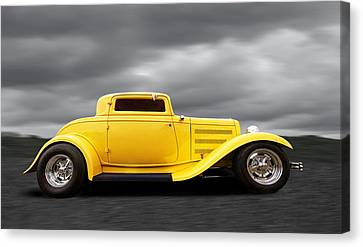 Yellow 32 Ford Deuce Coupe Canvas Print by Gill Billington