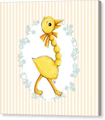 Yellow Baby Duck Canvas Print by Cindy Garber Iverson
