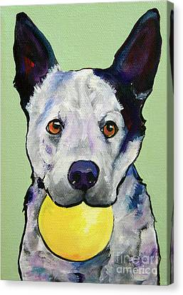 Yellow Ball Canvas Print by Pat Saunders-White