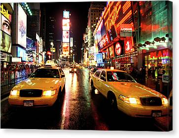 Yellow Crown Cabs Canvas Print by Sean Davey