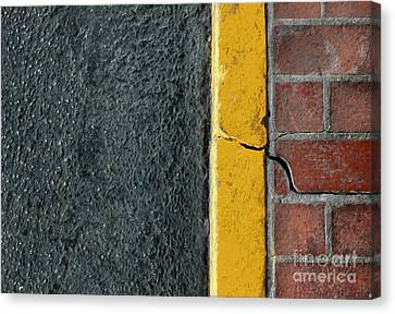 Yellow Curb Canvas Print by Dan Holm