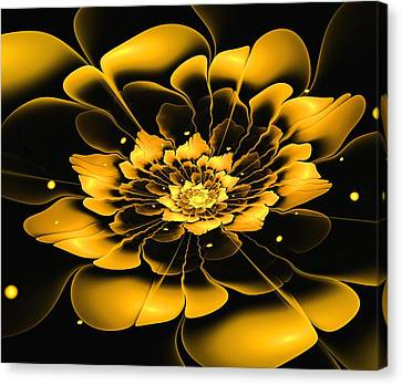 Yellow Flower Canvas Print by Anastasiya Malakhova