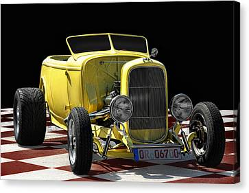 Yellow Hot Rod Canvas Print by Joachim G Pinkawa