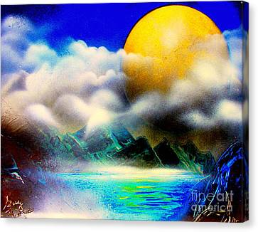 Yellow Moon 4682 E Canvas Print by Greg Moores