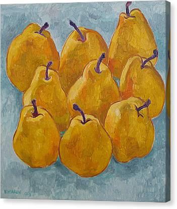 Yellow Pears Canvas Print by Vitali Komarov
