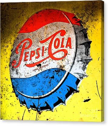 Yellow Pepsi Pop Art Canvas Print by Gary Everson