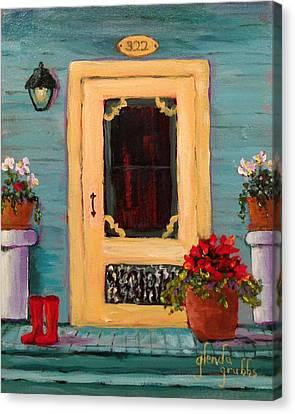 Yellow Screen Door   Canvas Print by Glenda Grubbs