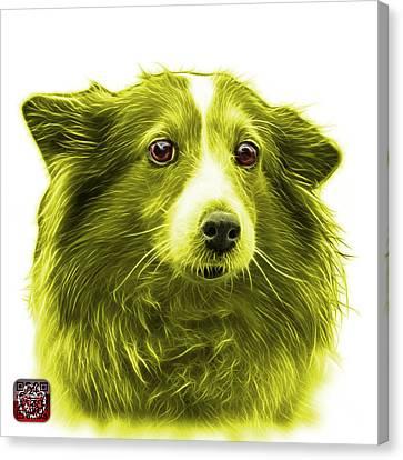 Yellow Shetland Sheepdog Dog Art 9973 - Wb Canvas Print by James Ahn