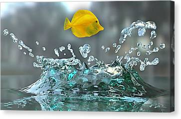 Yellow Tang Collection Canvas Print by Marvin Blaine
