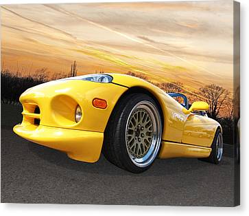 Yellow Viper Rt10 Canvas Print by Gill Billington