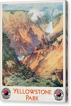 Yellowstone Park Canvas Print by Thomas Moran
