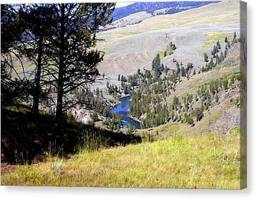 Yellowstone River Vista Canvas Print by Marty Koch