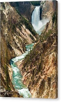 Yellowstone Waterfalls Canvas Print by Sebastian Musial