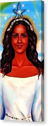 Yemaya-the Goddess Canvas Print by Carmen Cordova