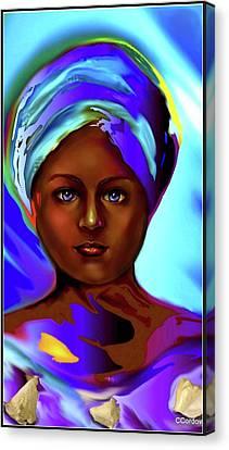 Yemaya -the Ocean Goddess Canvas Print by Carmen Cordova