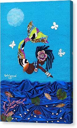 Yemaya Canvas Print by Carla J Lawson