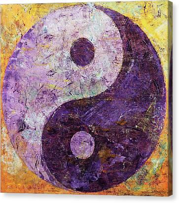 Purple Yin Yang Canvas Print by Michael Creese