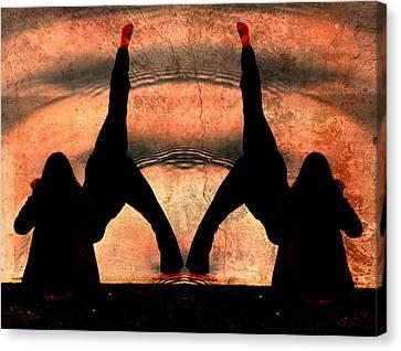 Yoga Art Split Your Body Apart Canvas Print by Robert Frank Gabriel